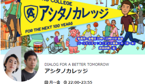 TBSラジオ「アシタノカレッジ」出演します!